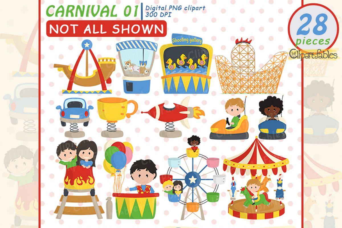 Carnival clipart, Cute amusement park clip art