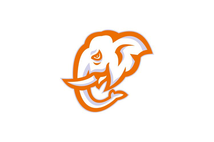 Elephant Head Side Retro example image 1