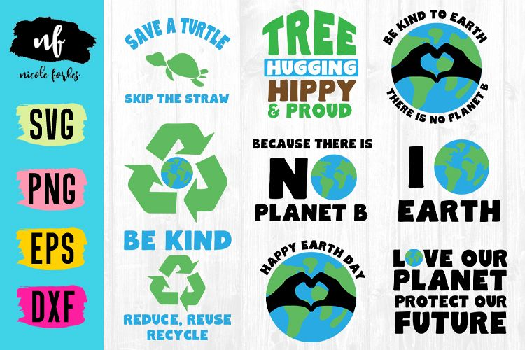 Earth Day SVG Craft Bundle example image 1