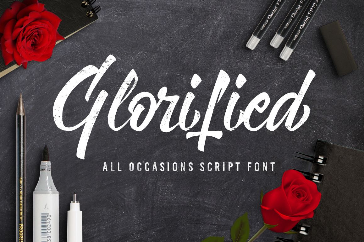 Glorified Script Font example image 1