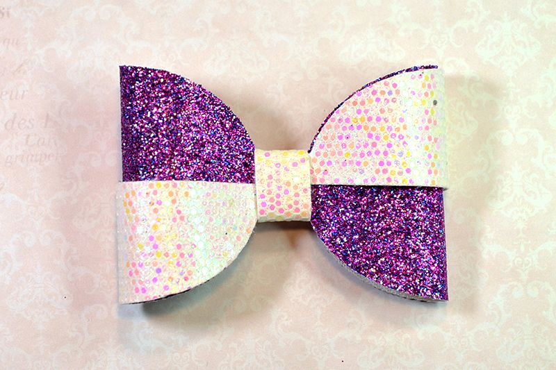 Hair bow template SVG, DIY leather bow template example image 1