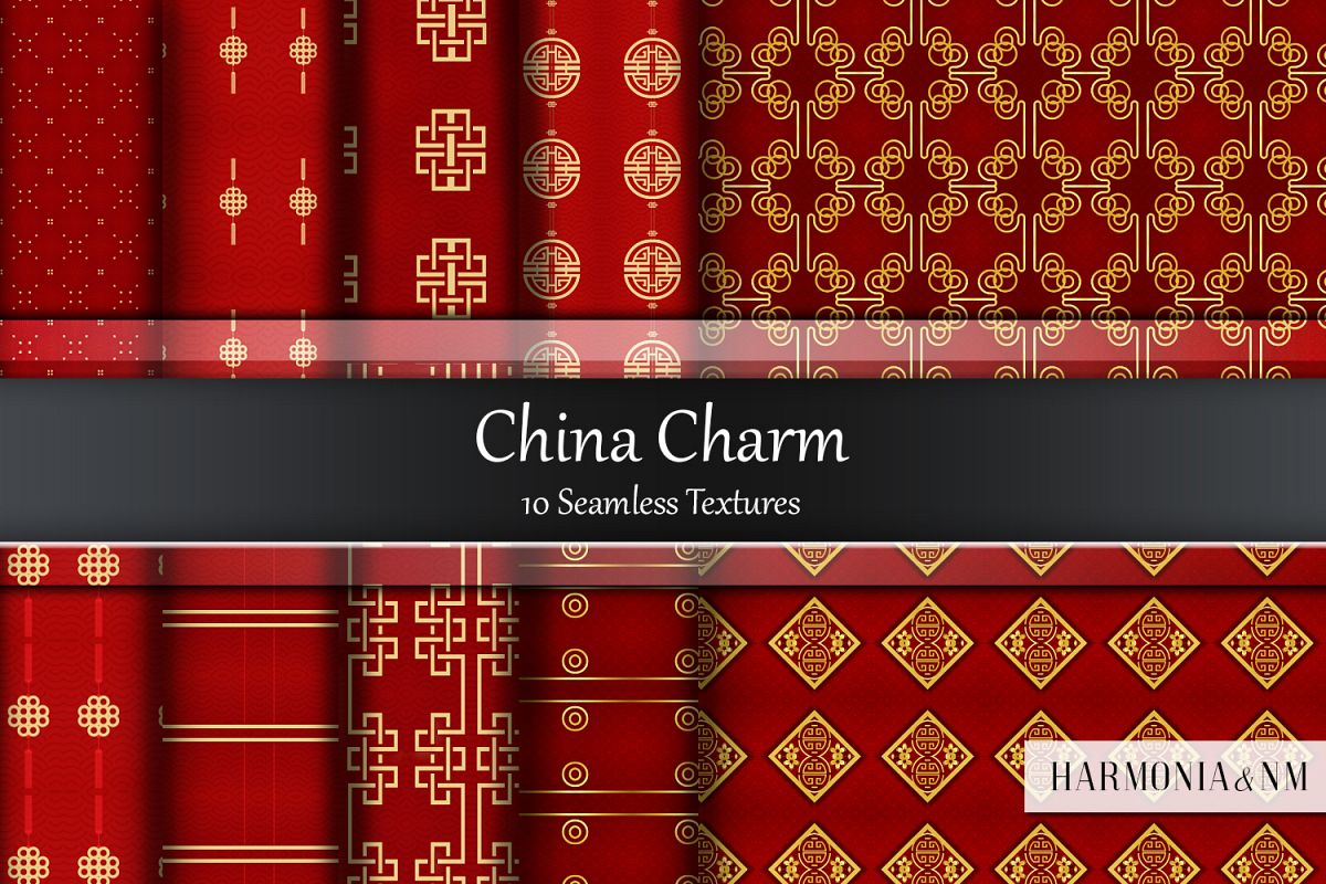 China Charm 10 Seamless Textures example image 1