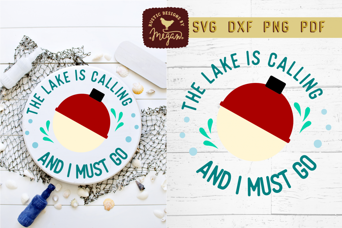 The Lake Is Calling And I Must Go Fishing Lake SVG DXF example image 1