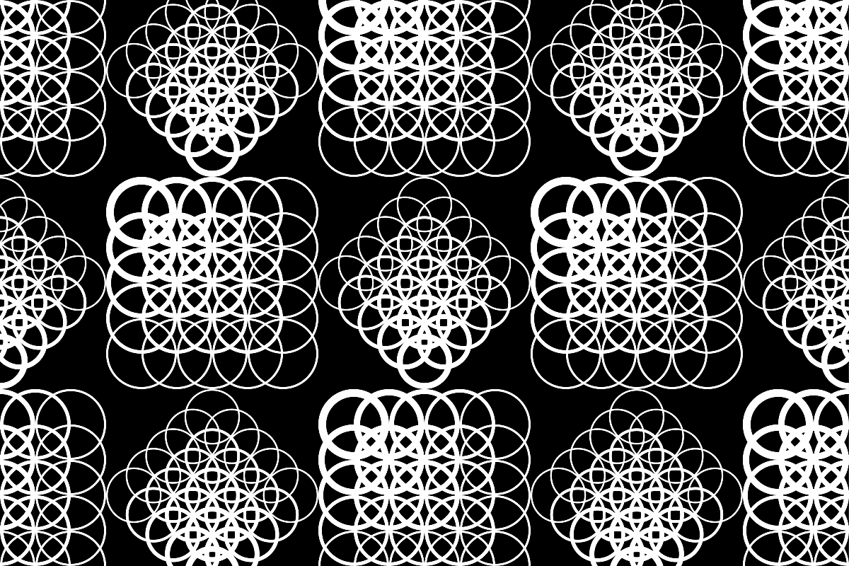 Seamless vector background with white lace pattern on black background. example image 1
