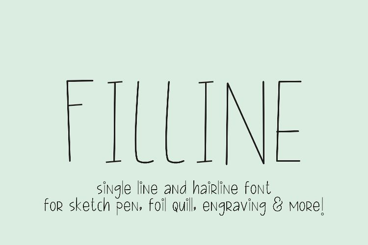 FILLINE Single line and hair line fonts example image 1