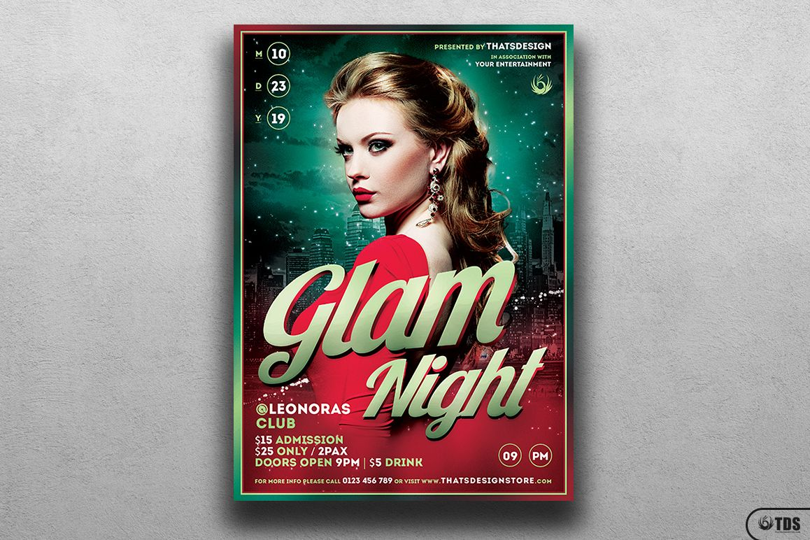 Glam Night Flyer Template example image 1