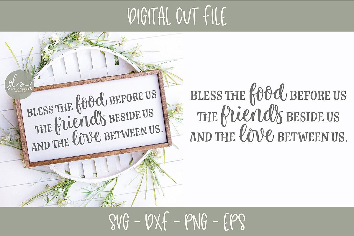 Bless The Food Before Us - Thanksgiving SVG example image 1
