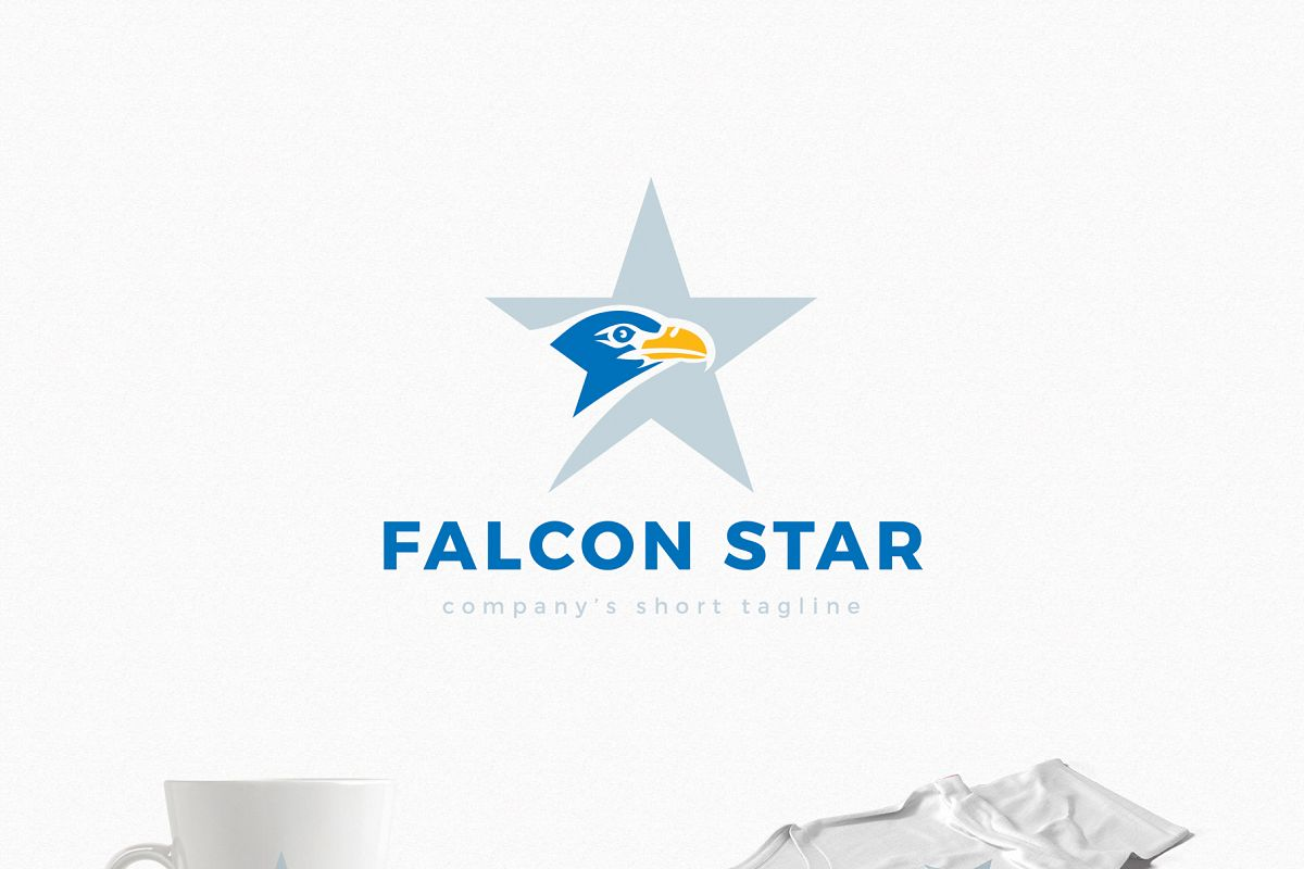 Falcon Star Logo Template example image 1
