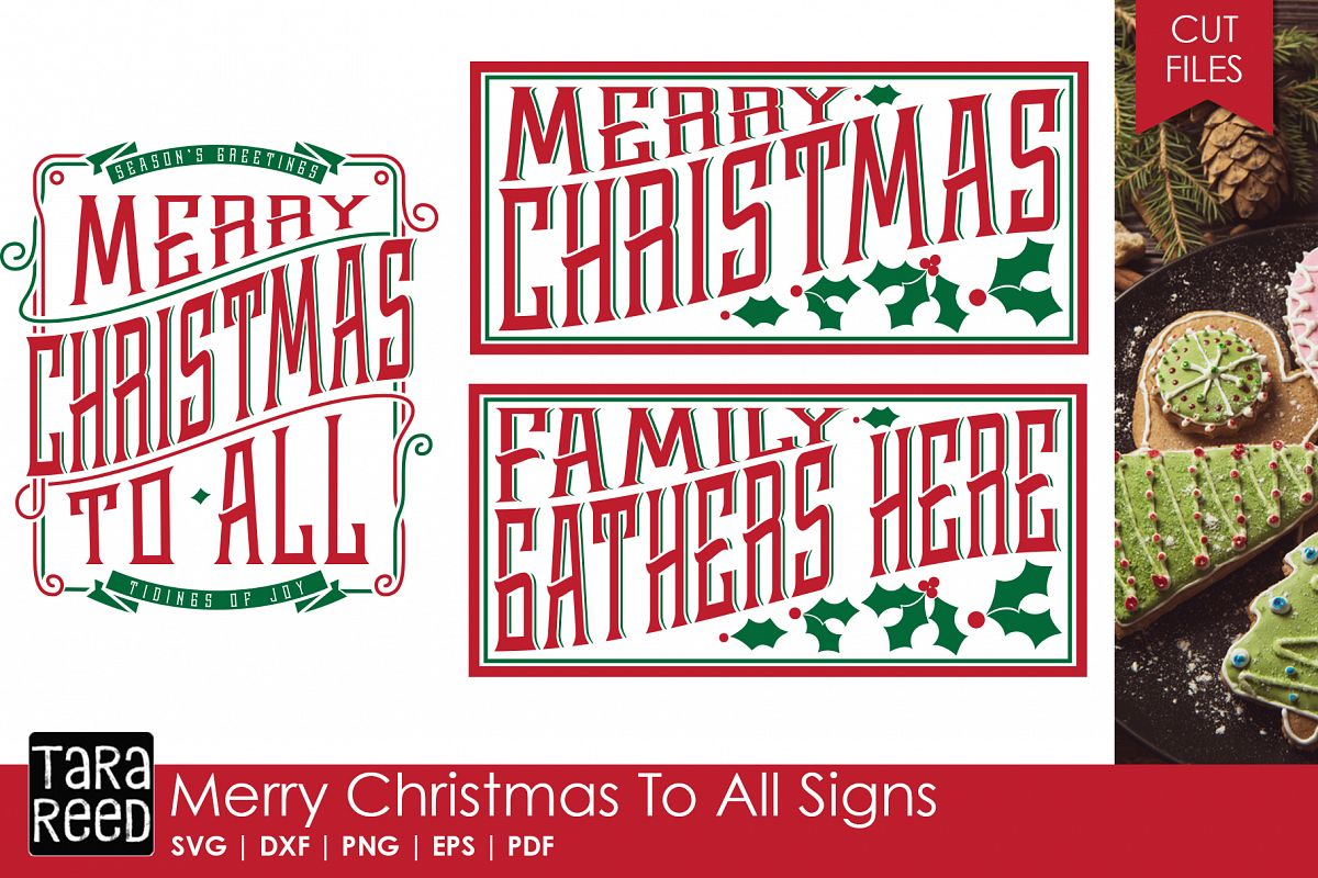 Merry Christmas Signs Svg Cut Files For Crafters