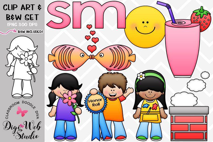 Clip Art / Illustrations - S Blends - sm Phonics example image 1
