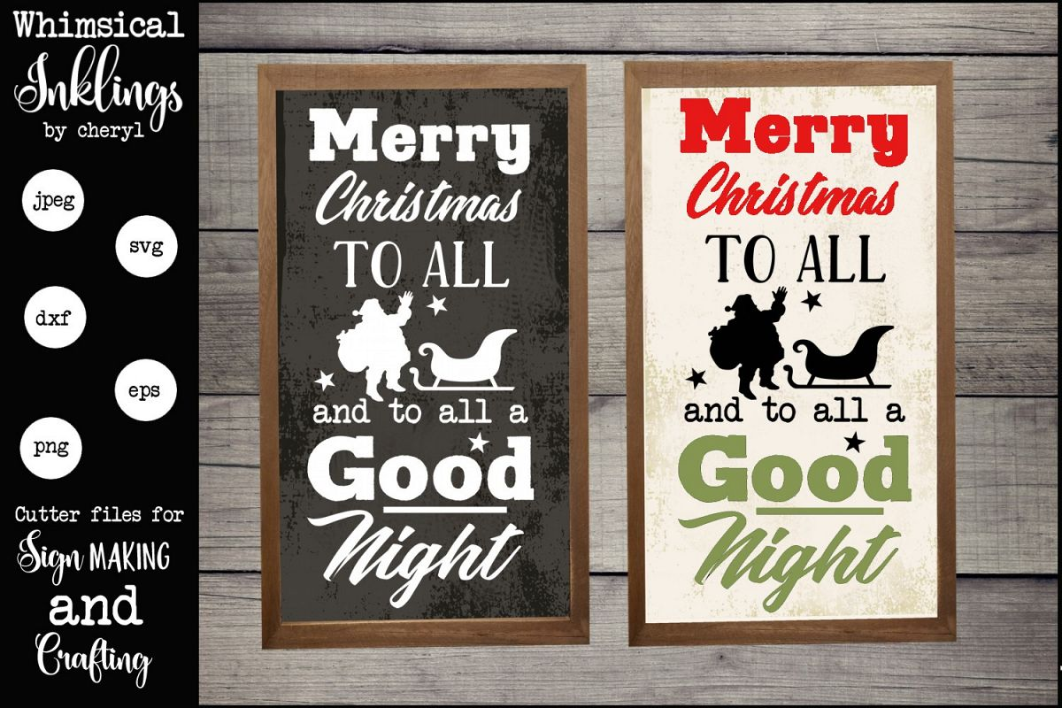 Merry Christmas To All Version 2 SVG example image 1