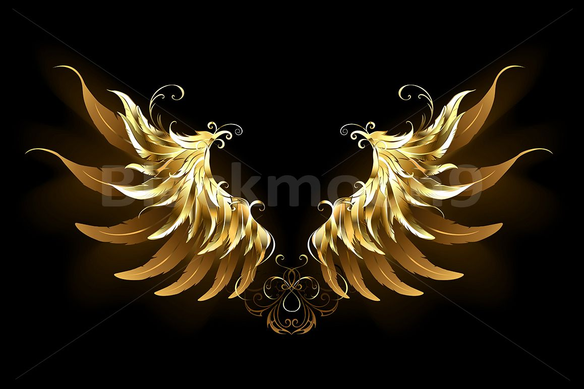 Wing Gold >> Shiny Angel Wings Gold Wings