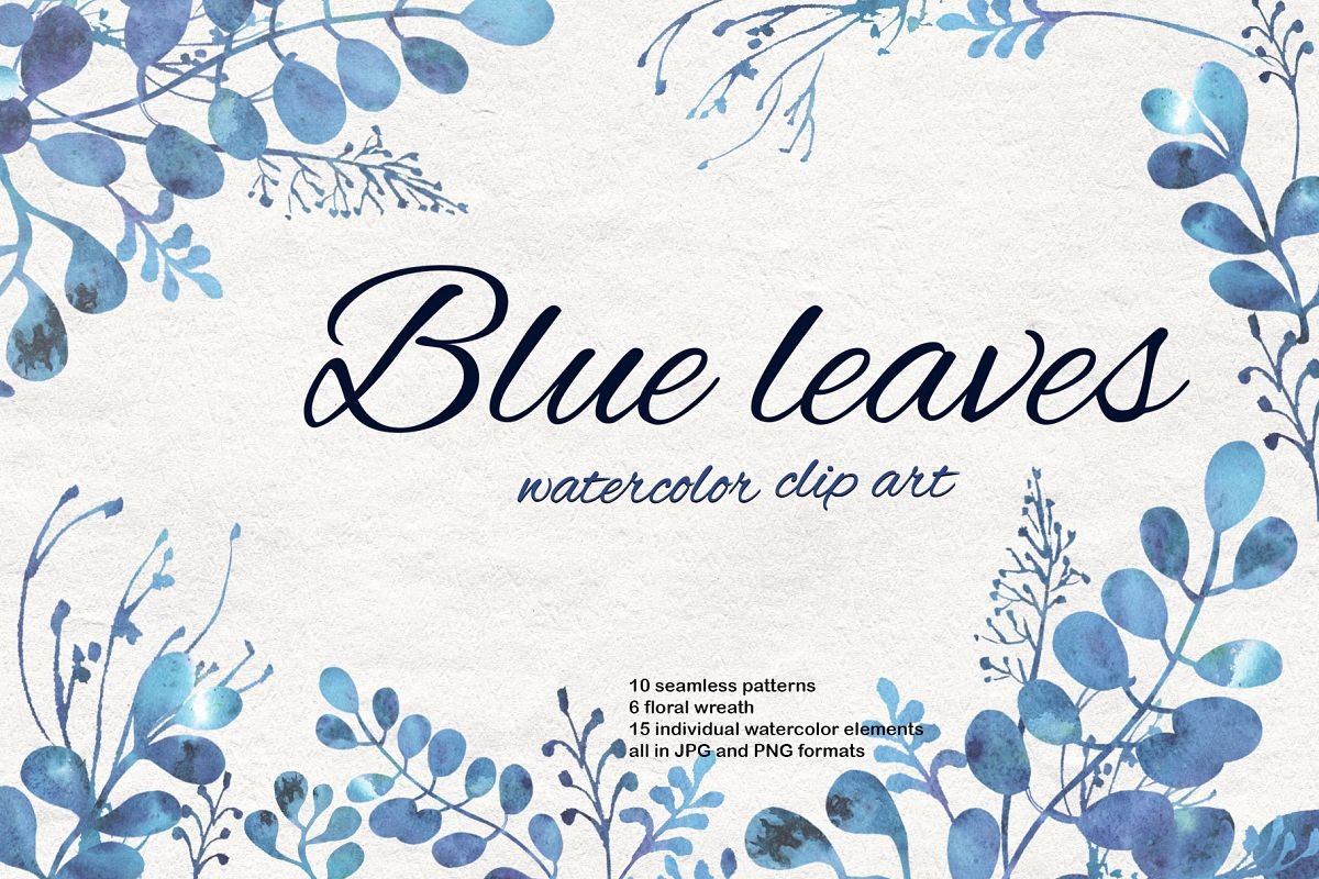 Blue leaves example image 1