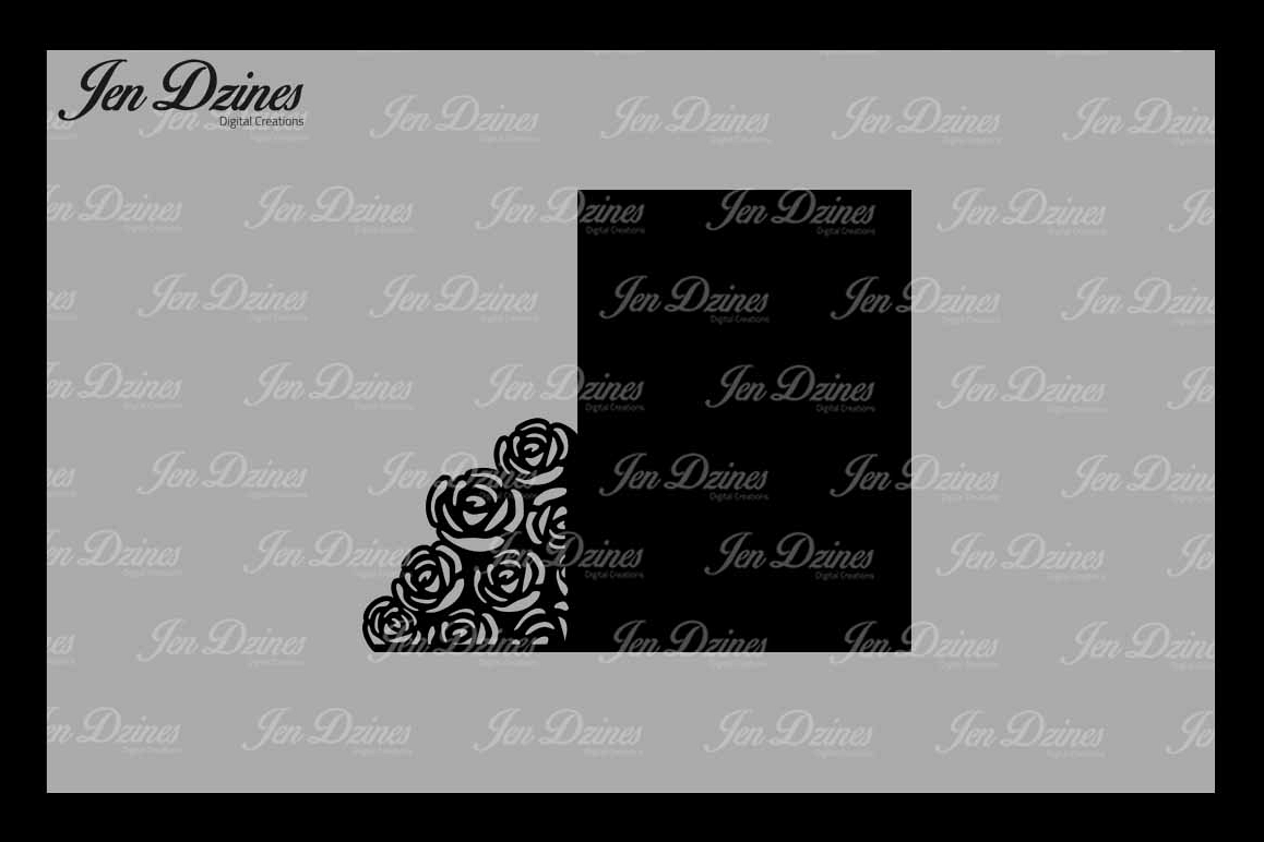 Wedding Gate Card SVG DXF EPS PNG example image 1