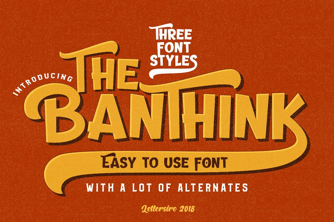 The Banthink - Retro Font example image 1