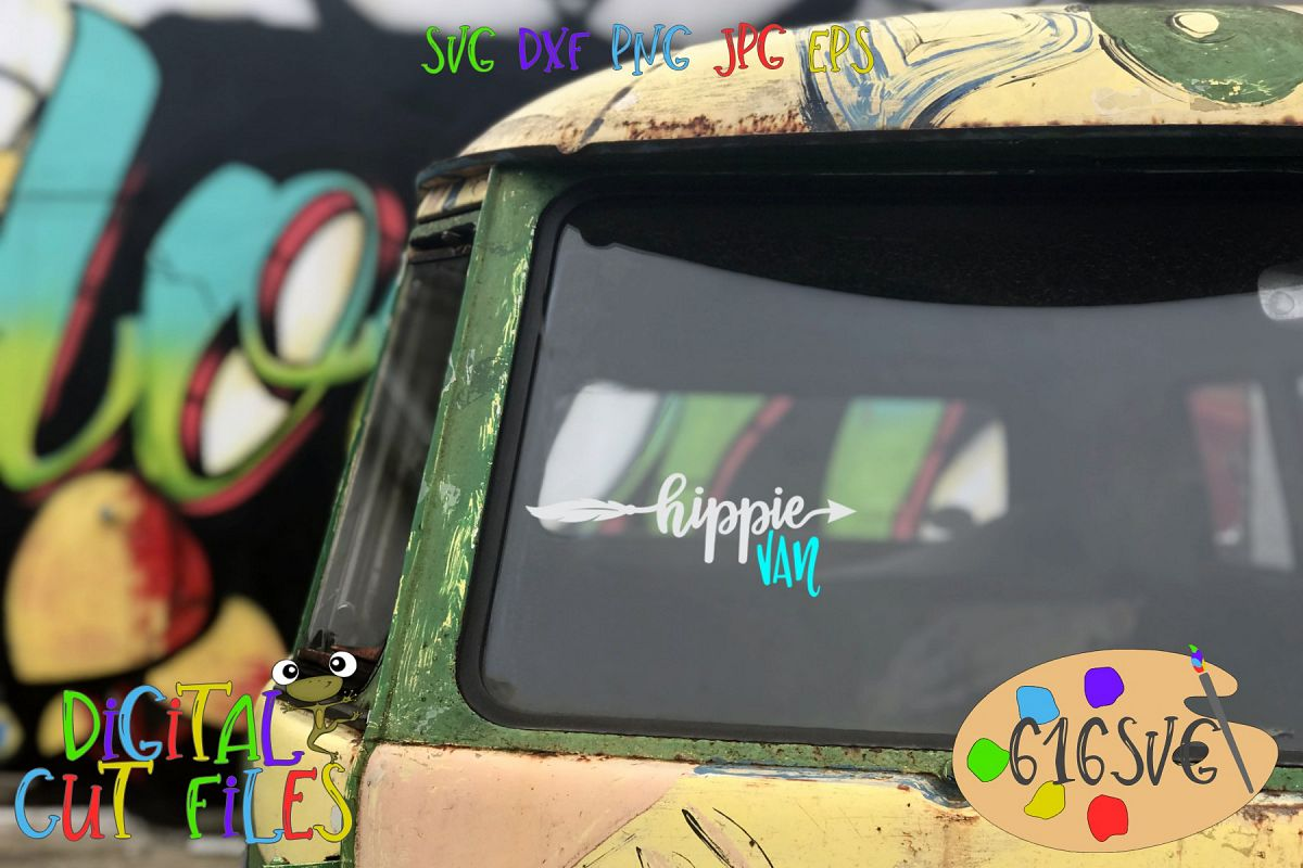 Hippie Car Hippie Van SVG example image 1