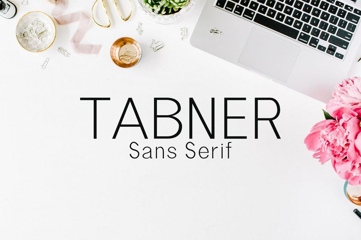 Tabner Sans Serif Typeface example image 1
