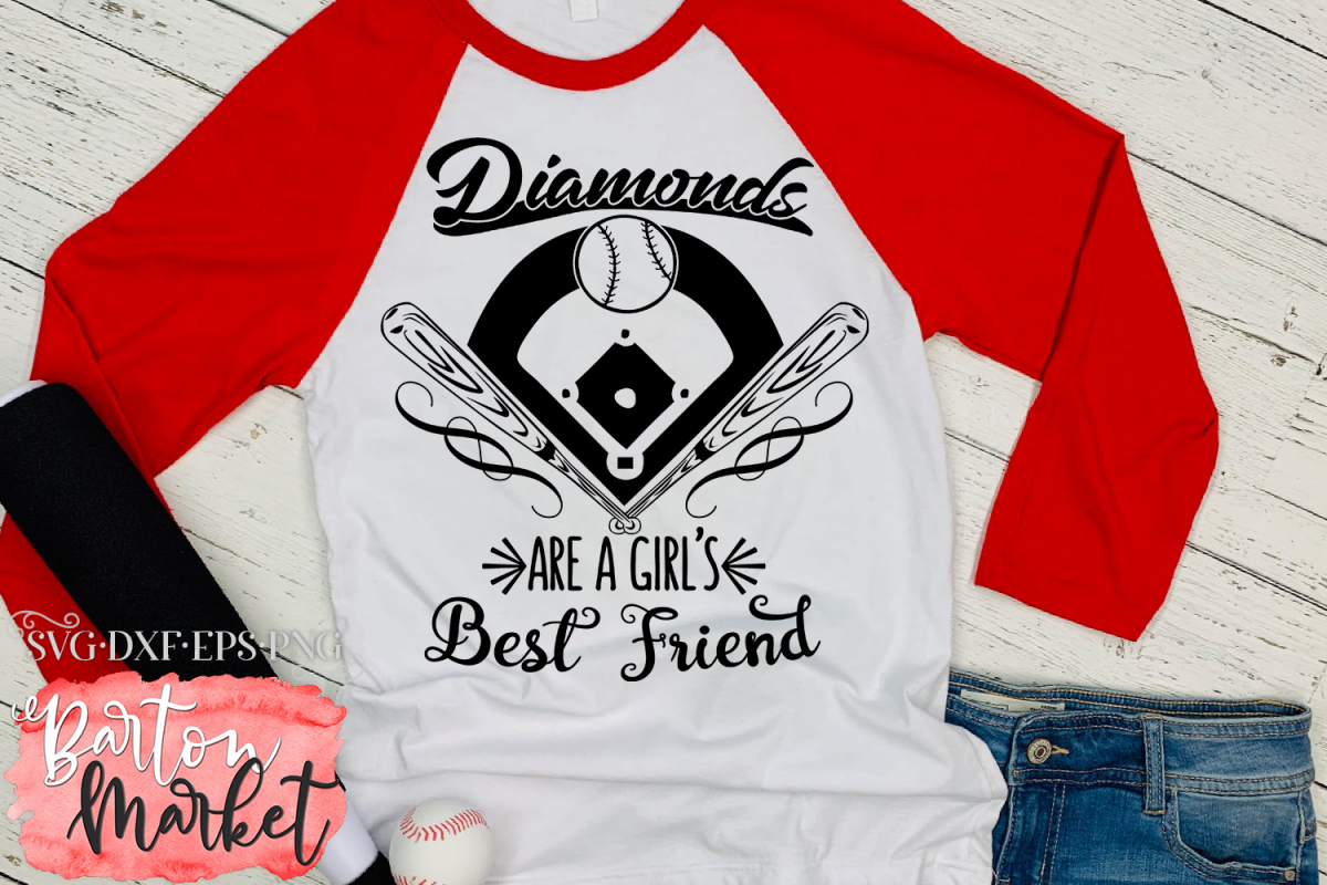 Diamonds Are A Girl's Best Friend SVG DXF EPS PNG example image 1