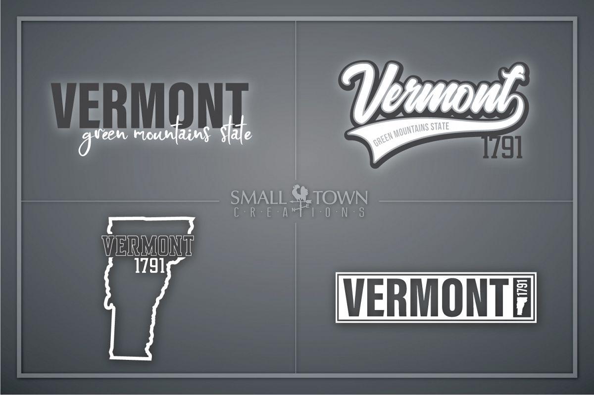 Vermont, Green Mountain State - slogan, PRINT, CUT & DESIGN example image 1