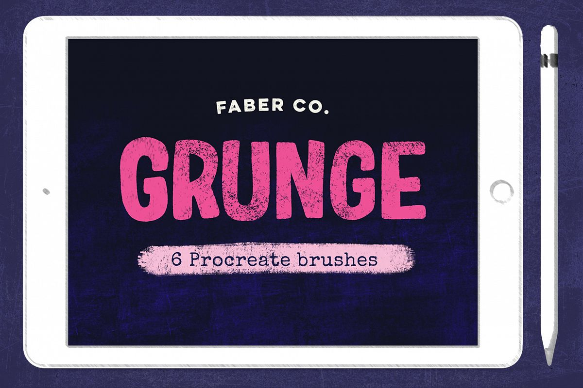 Grunge Procreate Brushes example image 1