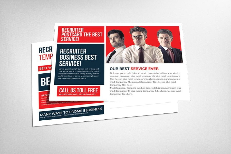 Recruiter Postcard Template example image 1