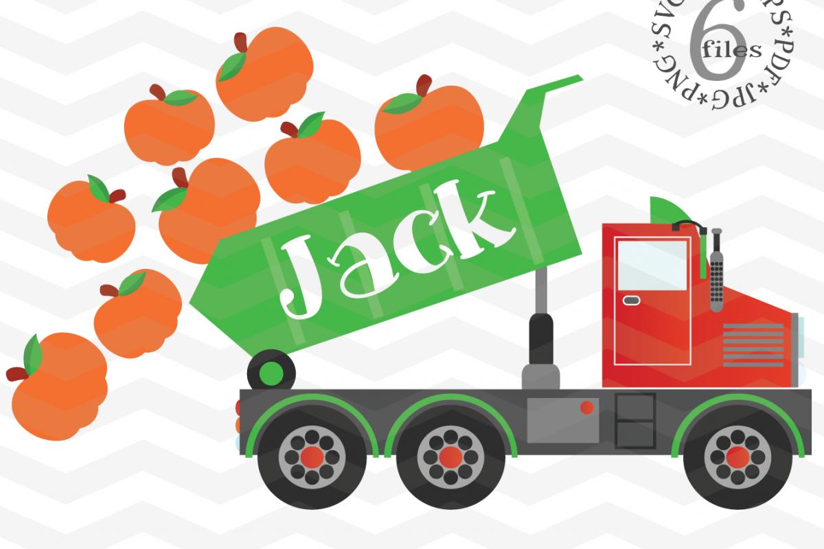 Pumpkin Truck svg - Dump truck svg - Halloween Truck svg example image 1