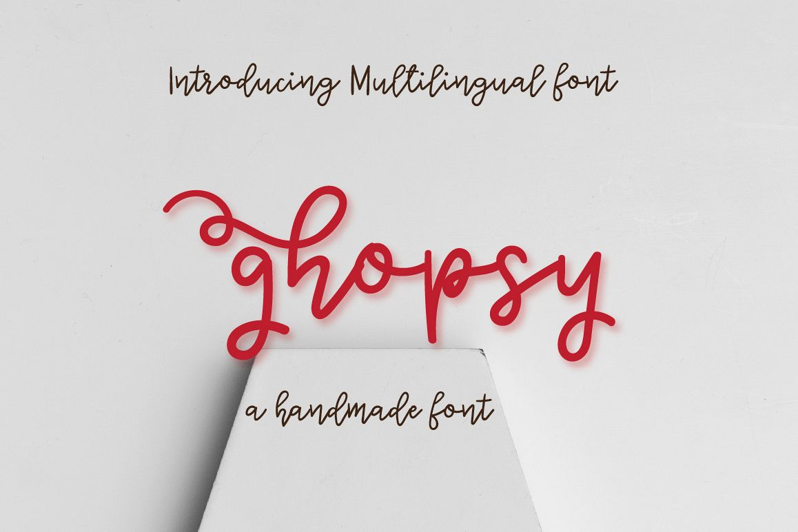 Ghopsy script font - Multilingual example image 1
