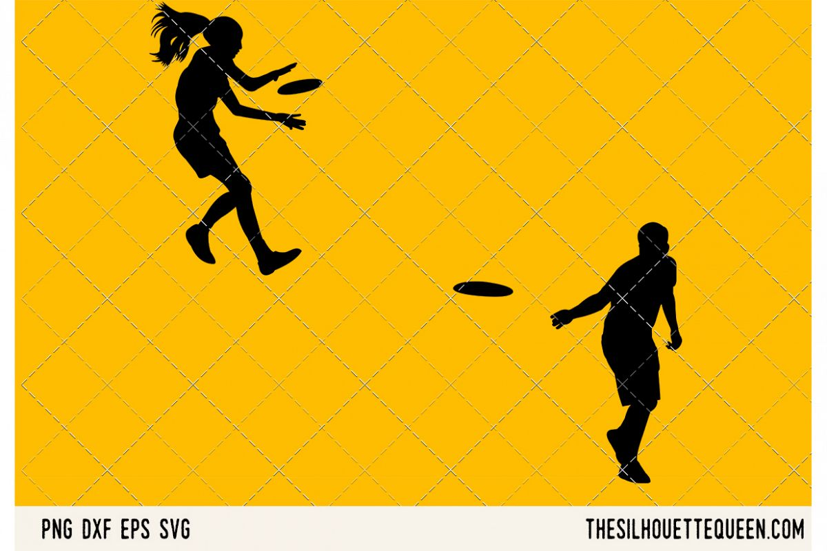 Frisbee Playing SVG example image 1