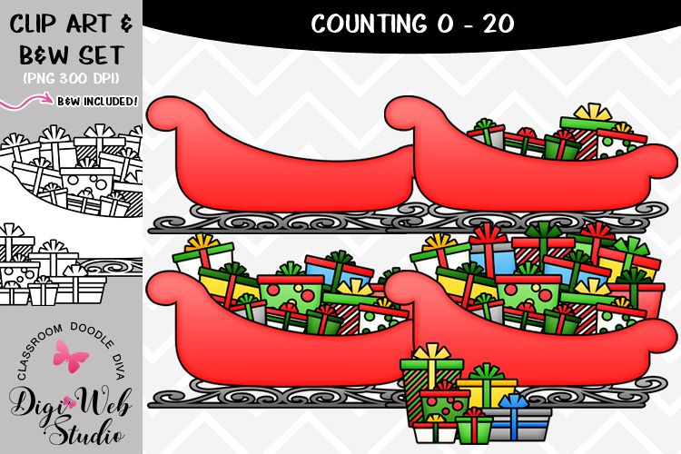 Clip Art / Illustrations - 0-20 Counting Christmas Presents example image 1