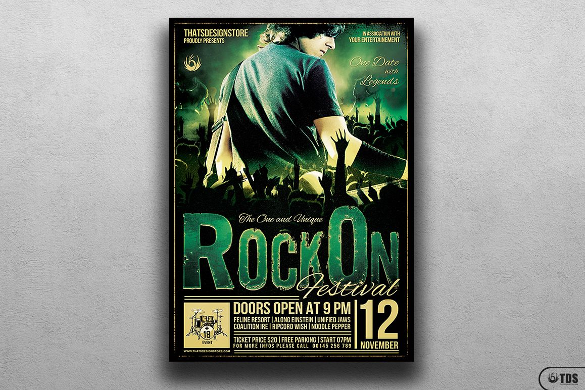 Rock Festival Flyer Template V2 example image 1