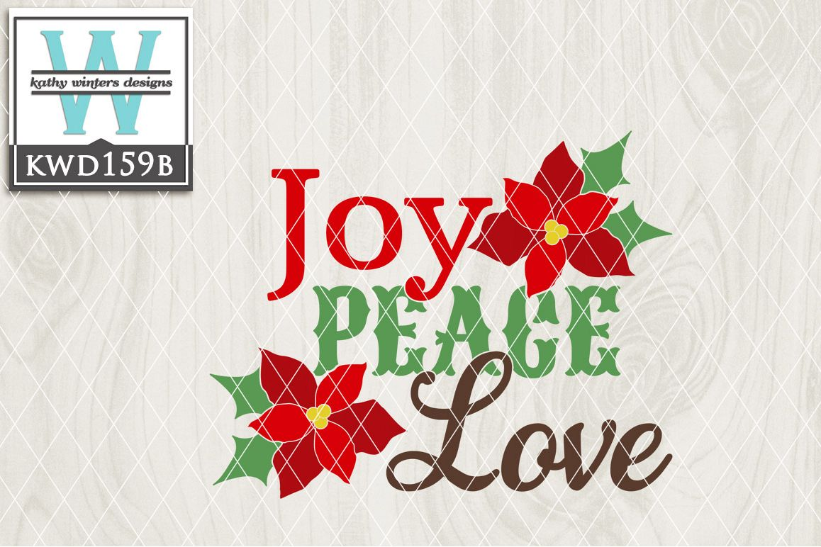 Christmas SVG - Joy Peace Love KWD159B example image 1