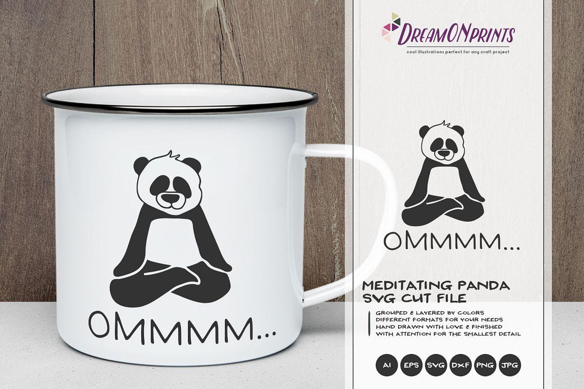 Funny Yoga Panda   Panda Bear SVG   Meditate example image 1