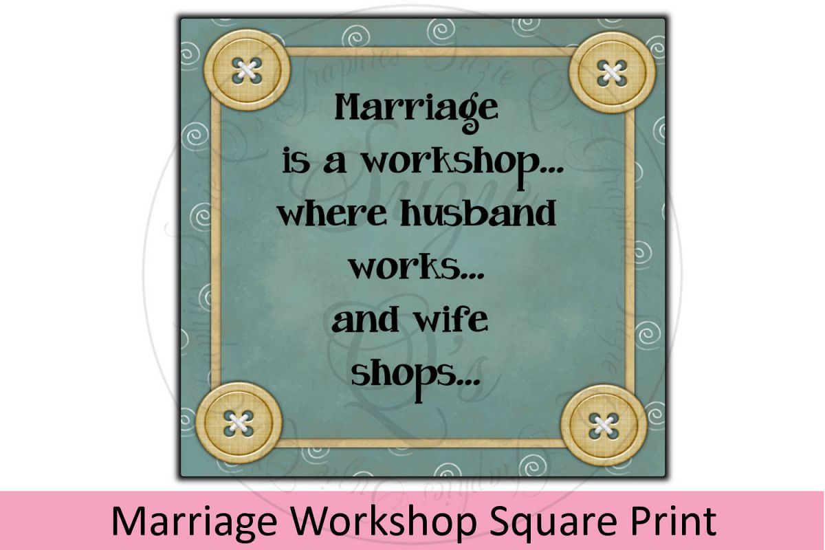 Marriage Workshop Square Print example image 1