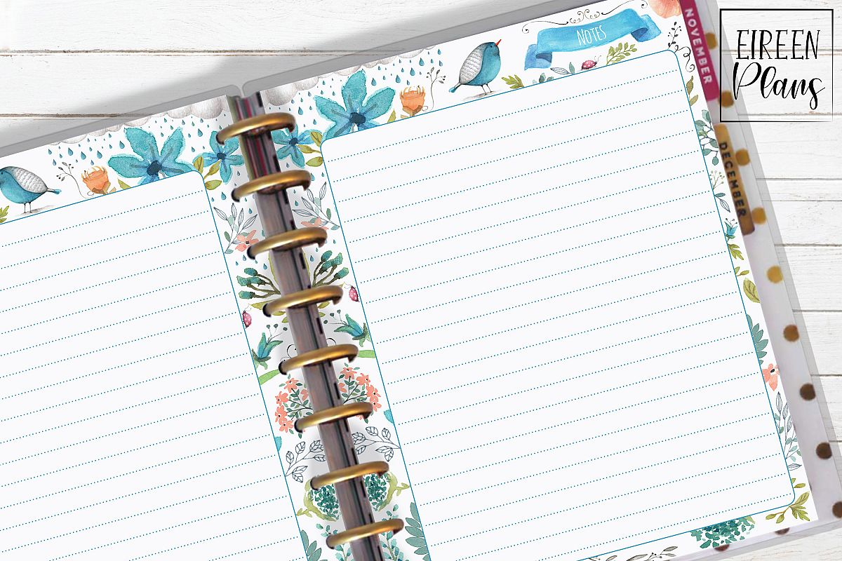 Notes Printable for Classic Happy Planner example image 1