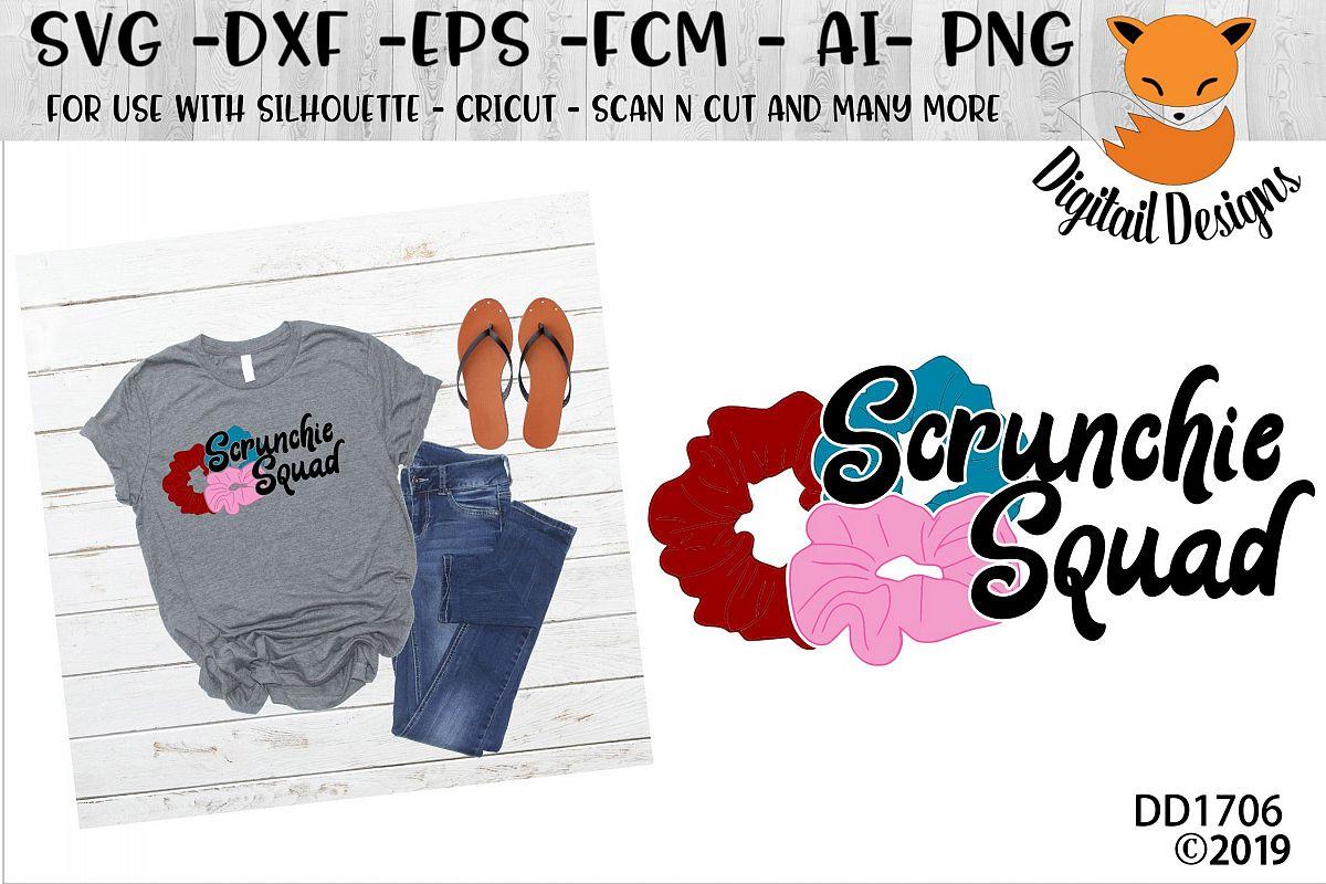 Scrunchie Squad Basic Girl SKSKSK And I Oop SVG example image 1