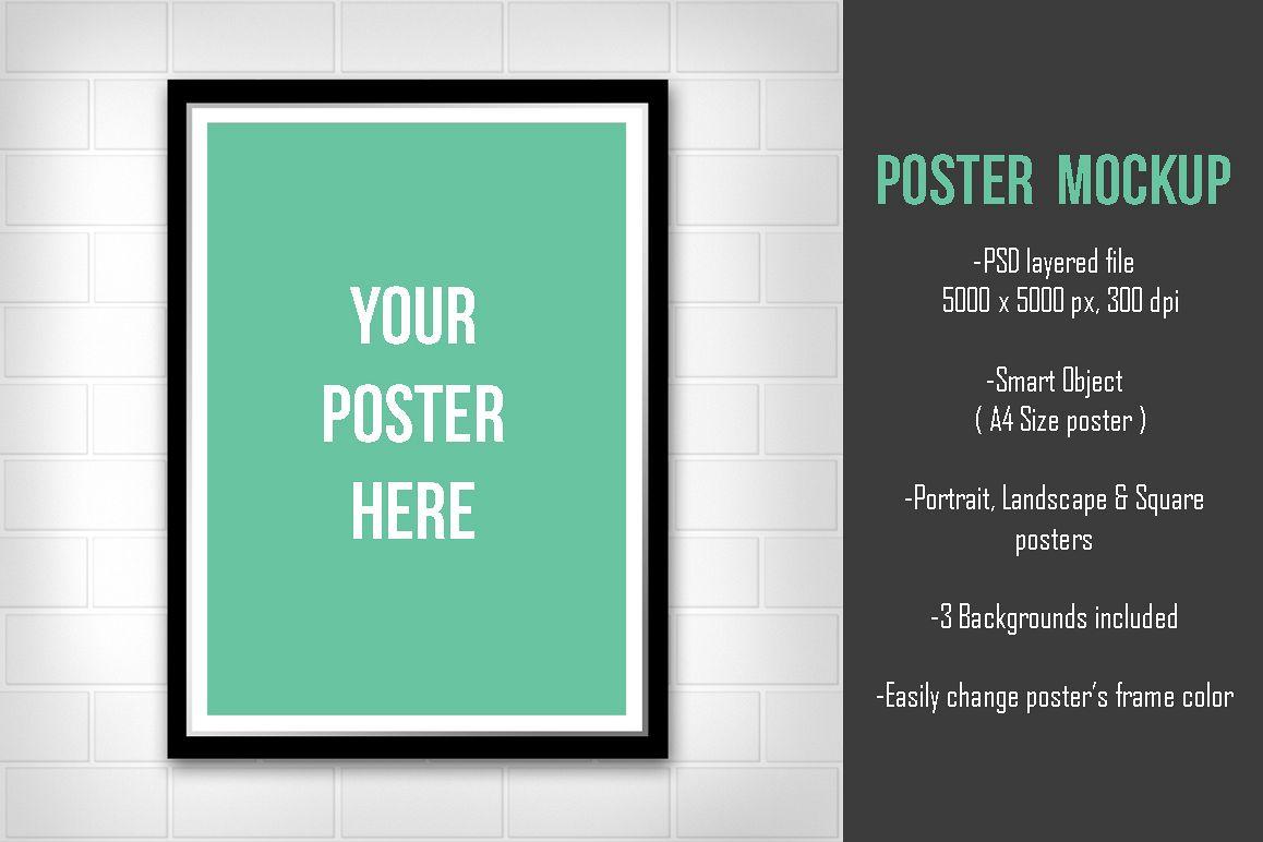 minimal poster mockup v1