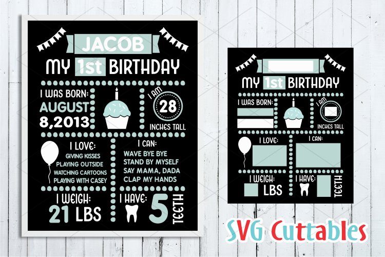 Birthday Board | SVG Cut File example image 1