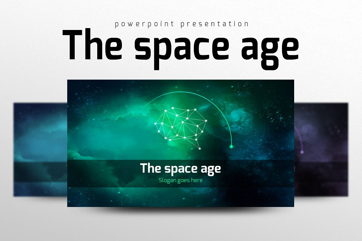 Space PowerPoint Template example image 1