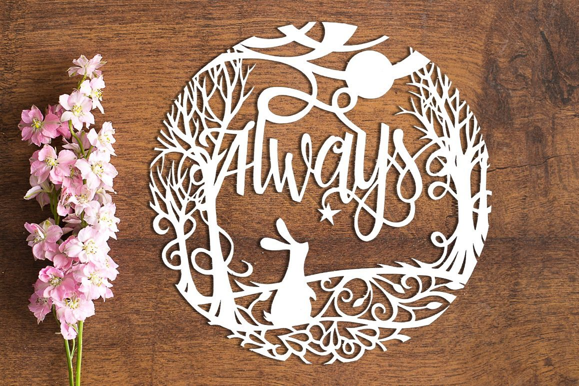 Always - Paper Cutting Template example image 1