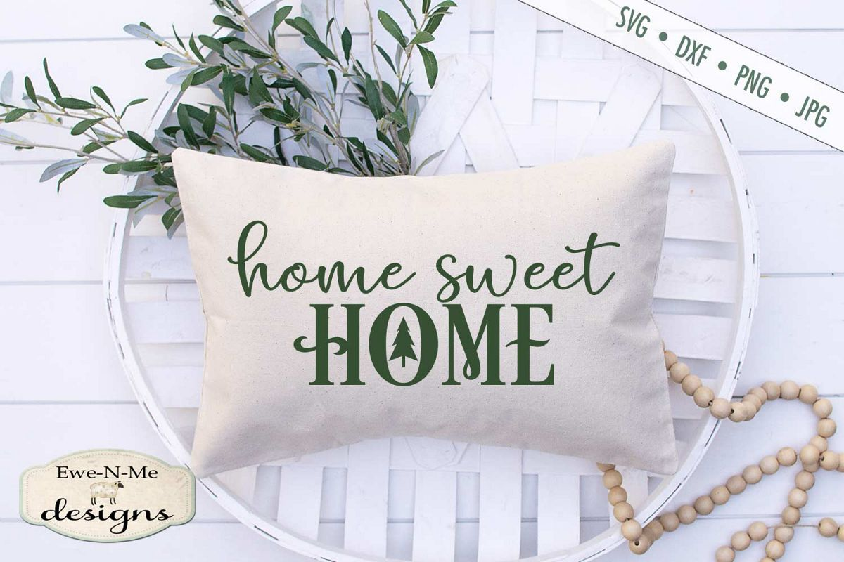 Home Sweet Home - Christmas Tree - SVG DXF File example image 1