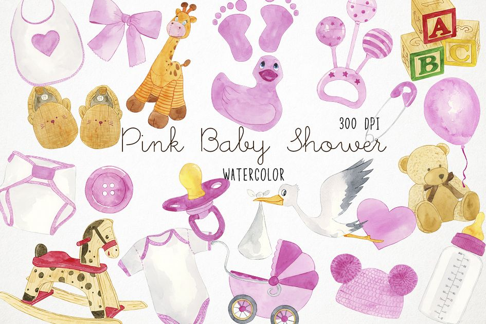Watercolor Baby Shower Clipart Baby Shower Clip Art