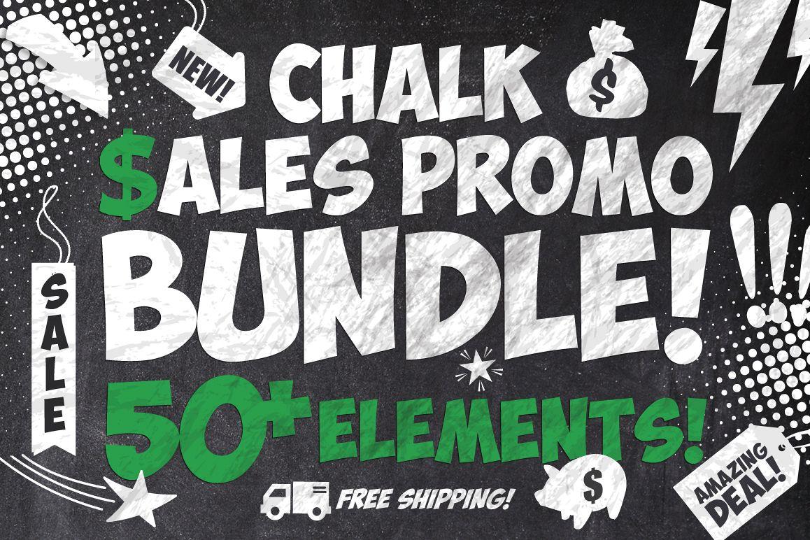 50 Chalk Sales Promo Bundle example image 1