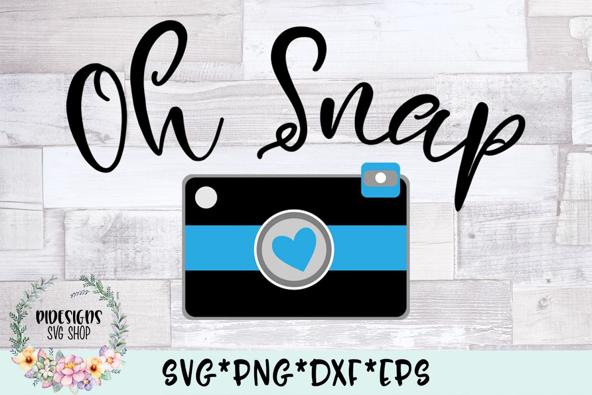 Oh Snap Photography SVG Cut File example image 1