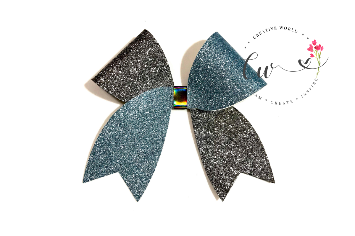 Cheer Hair Bow Digital Template  Hair Bow Template example image 1