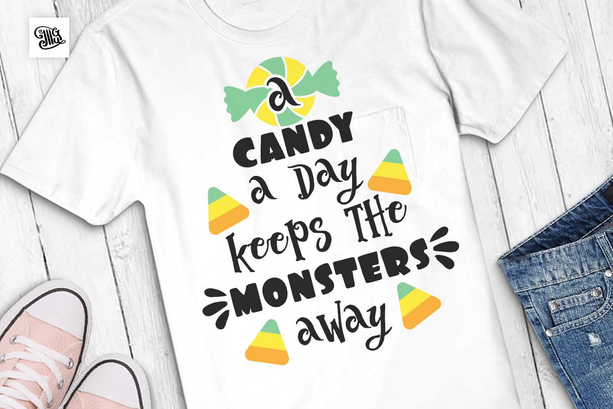 A candy a day keeps the monsters away example image 1