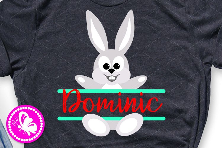 Happy Easter monogram svg Boys shirt Baby boy design Cricut example image 1