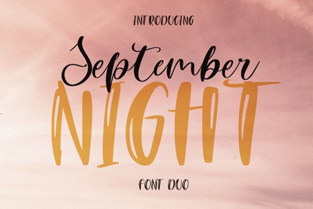 September Night. Font Duo example image 1