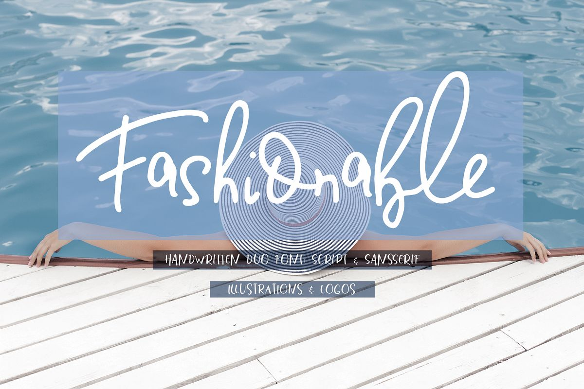 Fashionable Duo Font & Illustrations example image 1