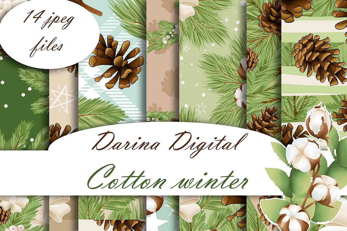 Cotton winter patterns example image 1