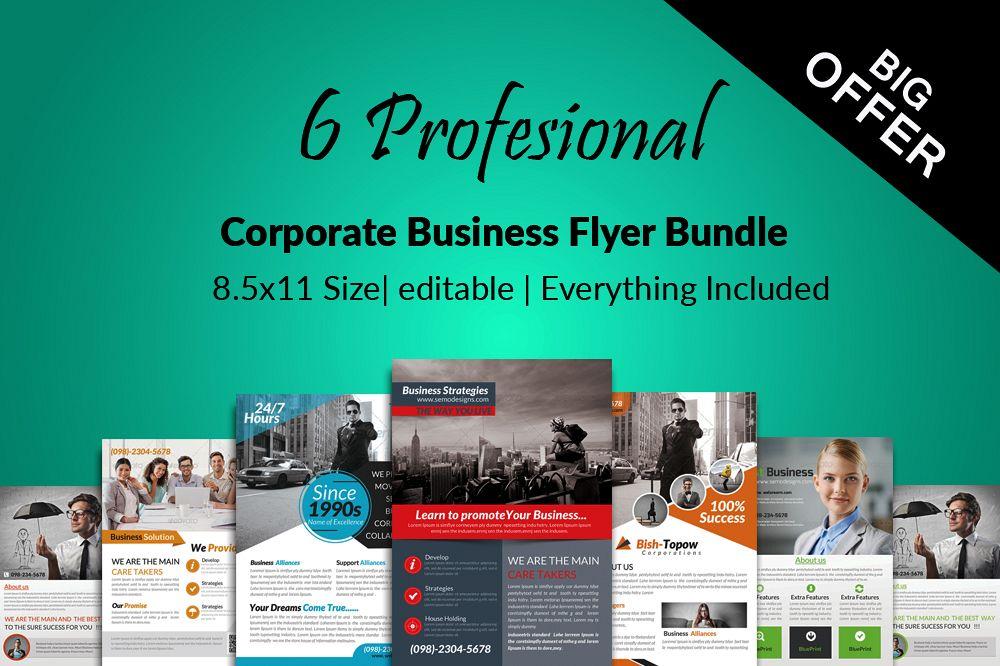 6 Multi Use Business Flyers Bundle example image 1